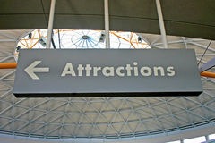 Attractions Sign Stock Images
