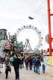 Attractions situated inside of the Prater amusement park in Vienna Stock Photo