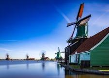 Attractions touristiques très populaires de Zaanse Schans en Hollande Photos libres de droits