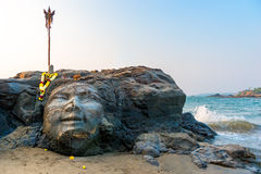 Attractions Vagator Beach face of Shiva. Attractions Vagator Beach in North Goa face of Shiva Stock Images