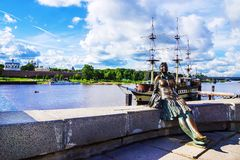 Attractions of Veliky Novgorod, Russia.  royalty free stock photography