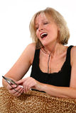 Attractive 40 Year Old Woman Singing Royalty Free Stock Photo