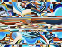 Attractive abstraction and design. Graphic arts and art Royalty Free Stock Photos