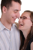 Attractive affectionate young couple royalty free stock photo