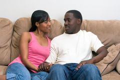 Attractive African american couple royalty free stock images