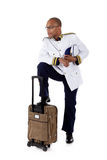Attractive African American cruise ship steward Royalty Free Stock Photography