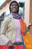 Attractive African American Female Shopping Stock Photos
