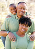 Attractive African American Man, Woman and Child