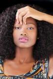 Attractive African American Teen Woman Portrait Hand Stock Photos