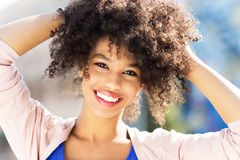 Attractive African American woman stock photography