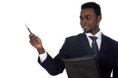 Attractive african businessman Stock Photography