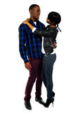 Attractive african couple hugging Royalty Free Stock Photos