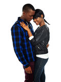 Attractive african couple posing together Stock Photos