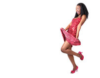 Attractive African Girl In Red Royalty Free Stock Photo