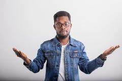 Portrait of African American male in studio stock photo