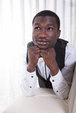 Attractive african man is posing Royalty Free Stock Image