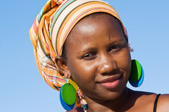 Attractive African woman listening Stock Images