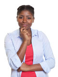 Attractive african woman looking at camera Royalty Free Stock Photo