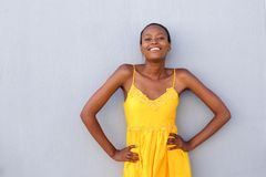Attractive african woman posing confidently Stock Photography