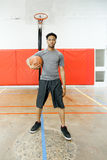 Attractive afro-american basketball player Royalty Free Stock Photos
