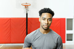 Attractive afro-american basketball player Stock Images