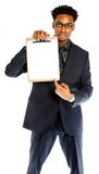 Attractive afro-american business man posing in studio Royalty Free Stock Photos