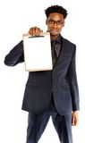 Attractive afro-american business man posing in studio Stock Image