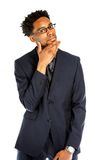 Attractive afro-american business man posing in studio Stock Photography