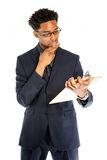 Attractive afro-american business man posing in studio Stock Photo