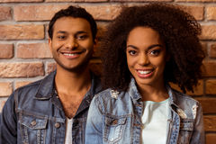 Attractive Afro-American couple Stock Photos