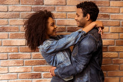 Attractive Afro-American couple Royalty Free Stock Photo