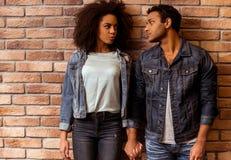 Attractive Afro-American couple Stock Photos