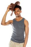 Attractive afro-american man posing in studio Stock Photo
