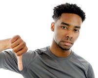 Attractive afro-american man posing in studio Stock Photos