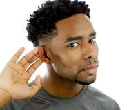 Attractive afro-american man posing in studio Royalty Free Stock Images