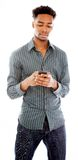 Attractive afro-american man posing in studio Royalty Free Stock Photos