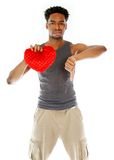 Attractive afro-american man posing in studio Royalty Free Stock Image