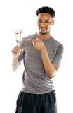Attractive afro-american man posing in studio Royalty Free Stock Photography