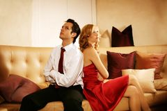 Attractive And Rich Couple Royalty Free Stock Photos