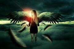 Attractive angel of the death Royalty Free Stock Photo