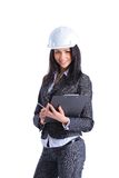 Attractive architect girl with hard hat Stock Photo