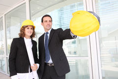 Attractive Architects on Construction Site Royalty Free Stock Image