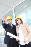 Attractive Architects on Construction Site Stock Photography