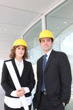Attractive Architects on Construction Site Stock Images