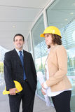 Attractive Architects on Construction Site Stock Photos