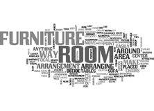Attractive Arrangement Of Your Furniture Enhances Your Room Word Cloud. ATTRACTIVE ARRANGEMENT OF YOUR FURNITURE ENHANCES YOUR ROOM TEXT WORD CLOUD CONCEPT Royalty Free Stock Image