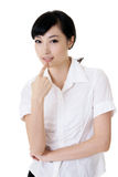Attractive Asian business woman Royalty Free Stock Images