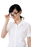 Attractive Asian business woman Stock Images