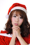 Attractive Asian Christmas girl Royalty Free Stock Photo