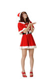 Attractive Asian Christmas woman Royalty Free Stock Images